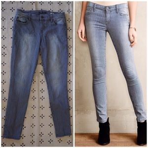 Anthropologie Level 99 Liza Railroad Stripe Jeans